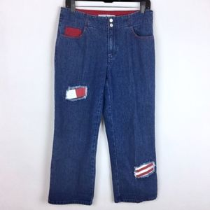 Tommy Hilfiger Jeans Vtg Logo Patches Cropped 8